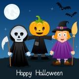 Halloween-Gruß-Karte mit Monstern Lizenzfreie Stockfotos