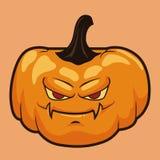Halloween Grumpy Pumpkin Isolated Royalty Free Stock Photos