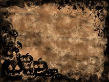 Halloween grunge. Background with black border Stock Image