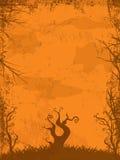 Halloween grunge background orange Royalty Free Stock Photos