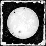 Halloween grunge background with spiders and bats Royalty Free Stock Photography