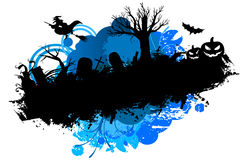 Halloween grunge banner Royalty Free Stock Image