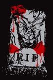 Halloween grunge blutiger RIP Lizenzfreie Stockbilder