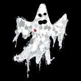 Halloween grunge ghost silhouette vector Royalty Free Stock Photo