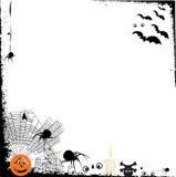 Halloween grunge Hintergrund mit Auslegungelementen Stockbilder