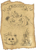 Halloween grunge Ikonenset Lizenzfreie Stockfotos