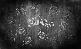 Halloween grunge illustration. Royalty Free Stock Photo