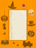 Halloween grunge paper and frame Stock Image