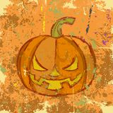Halloween grunge pumpkin. Vector illustration Stock Photos