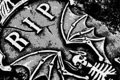 Halloween grunge RIP bat Stock Photo