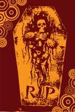 Halloween grunge RIP orange Royalty Free Stock Photo