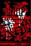 Halloween grunge SCHEURT skelet Stock Foto's