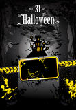 Halloween Grunge Style Flyer Stock Images