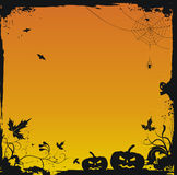 Halloween grunge vector background Stock Images