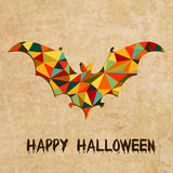 Halloween grunge vector background with bat Royalty Free Stock Image