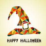 Halloween grunge vector background with hat Royalty Free Stock Photos