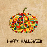 Halloween grunge vector background with pumpkin Stock Photo