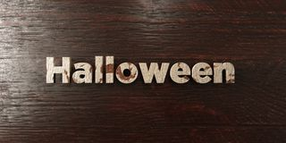 Halloween - grungy wooden headline on Maple  - 3D rendered royalty free stock image Stock Photos
