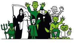 Halloween-Gruppe Stockbild