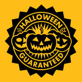 Halloween Guaranteed Pumpkin Seal Stock Photography