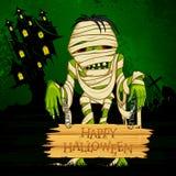 Halloween hälsning Fotografering för Bildbyråer