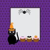 Halloween hälsningskort Arkivfoto
