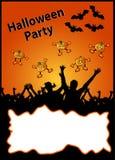 halloween här party din plakattext Royaltyfri Bild