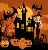 halloween häxa Royaltyfri Bild