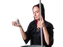 Halloween häxa Fotografering för Bildbyråer