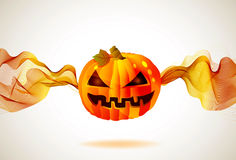 Halloween höstbakgrund med pumpa Royaltyfri Bild