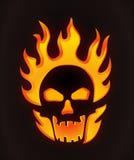 Halloween ha intagliato il cranio illustrazione di stock