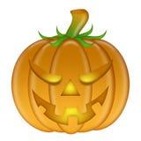 Halloween ha intagliato la priorità bassa bianca isolata zucca illustrazione vettoriale
