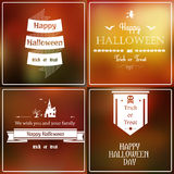 Halloween ha offuscato l'insieme Immagini Stock Libere da Diritti