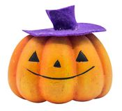 Halloween. Pumpkin face isolated on white with path Royalty Free Stock Image