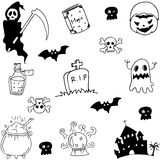 Halloween hand draw doodle set Royalty Free Stock Image