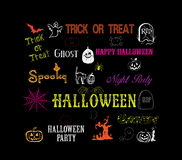 Halloween hand drawn elements Royalty Free Stock Photo