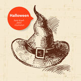 Halloween hand drawn illustration Royalty Free Stock Images