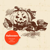 Halloween hand drawn illustration Royalty Free Stock Photos