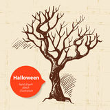 Halloween hand drawn illustration Stock Photography