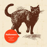 Halloween hand drawn illustration Stock Photo