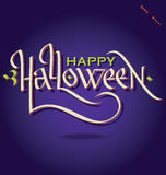 HALLOWEEN hand lettering (vector) Royalty Free Stock Photo