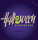HALLOWEEN hand lettering () Royalty Free Stock Photos