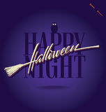 HALLOWEEN hand lettering () Stock Photography