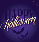 HALLOWEEN hand lettering () Royalty Free Stock Photography