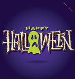 HALLOWEEN hand lettering (vector) Royalty Free Stock Photography