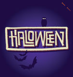 HALLOWEEN hand lettering (vector) Royalty Free Stock Photos
