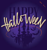HALLOWEEN hand lettering (vector) Stock Photography