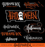 HALLOWEEN hand lettering set (vector) Stock Photography