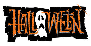 Halloween hand lettering (vector). Halloween hand lettering - handmade calligraphy, vector (eps8 Stock Photos