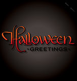 Halloween hand lettering (vector) Stock Photo